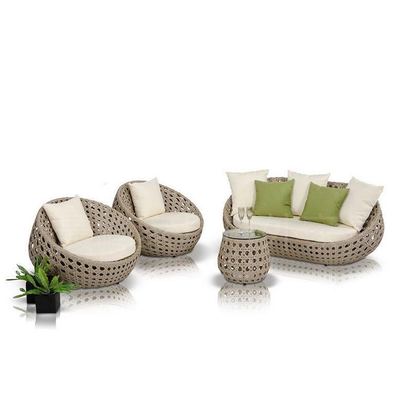Мебель для отдыха на открытом воздухе, набор плетеных диванов из ротанга для сада