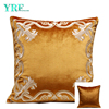 Pale Green Embroidery Velvet Decoration Cushion For Sofa