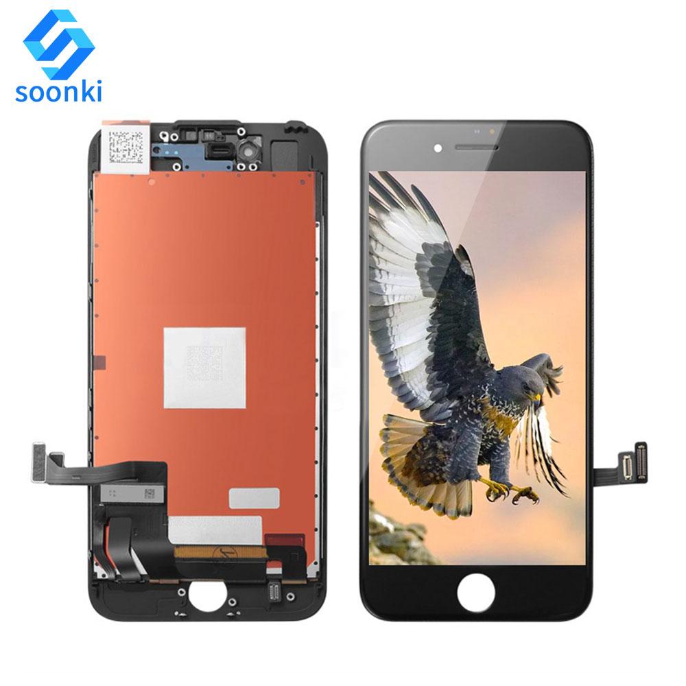 Оптовая продажа Мобильный ЖК сенсорный экран дигитайзер 7 ЖК для iphone 7 Дисплей черный мобильный телефон ЖК дигитайзер Цена по прейскуранту завода