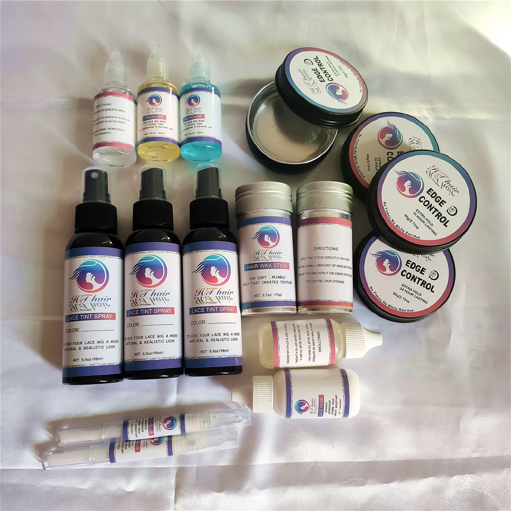 OEM lace glue skin protect spray lace tint spray different color wax stick edge control vendor private logo
