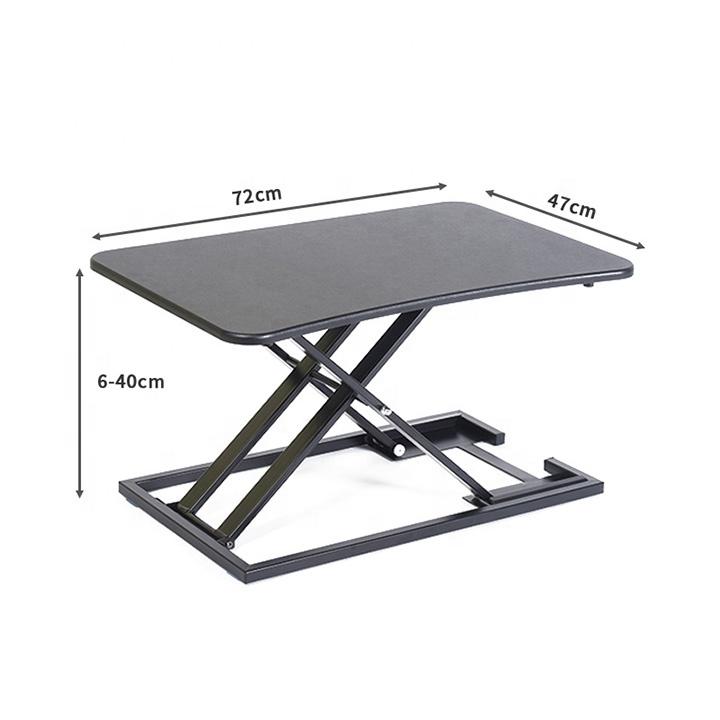 Height Adjustable Density Fiberboard Computer Riser Desk Converter