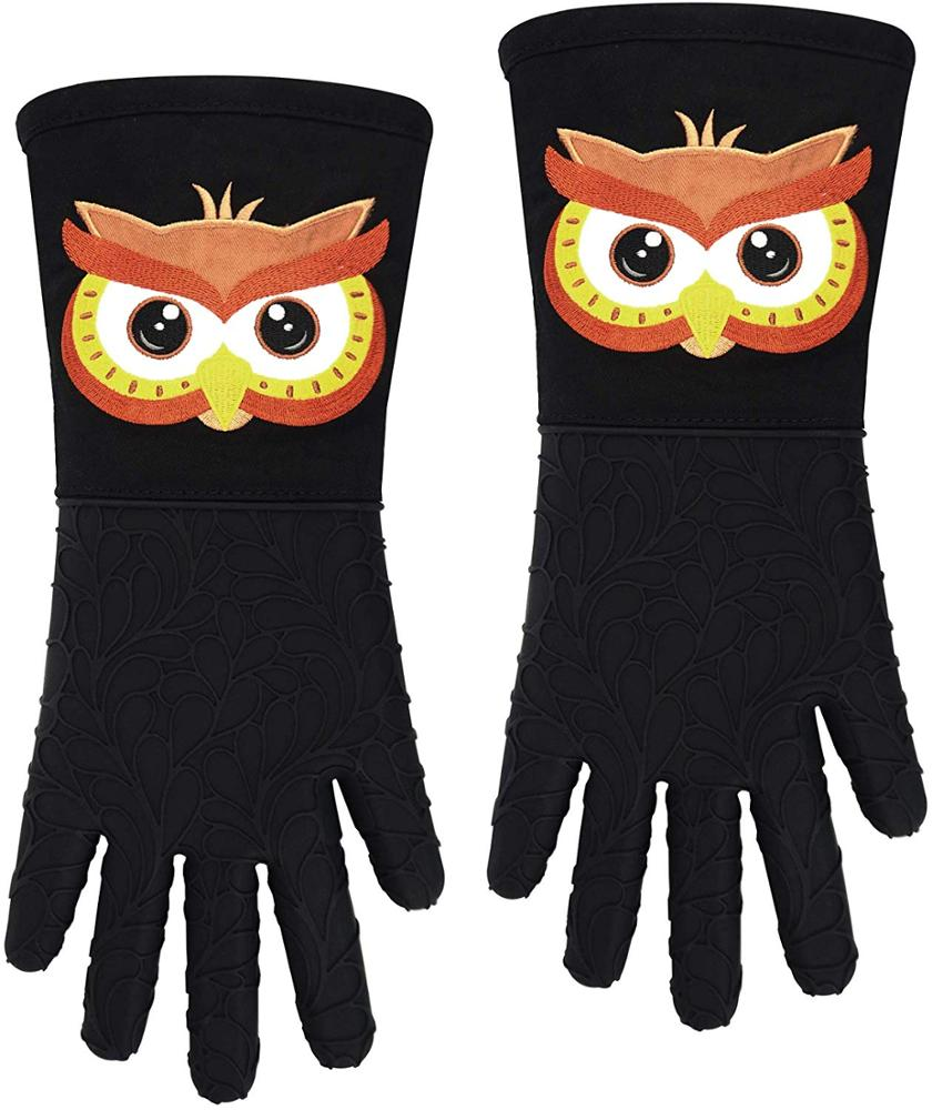BBQ Finger Gloves Silicone Oven Mitt Pot Holder outdoor mitts