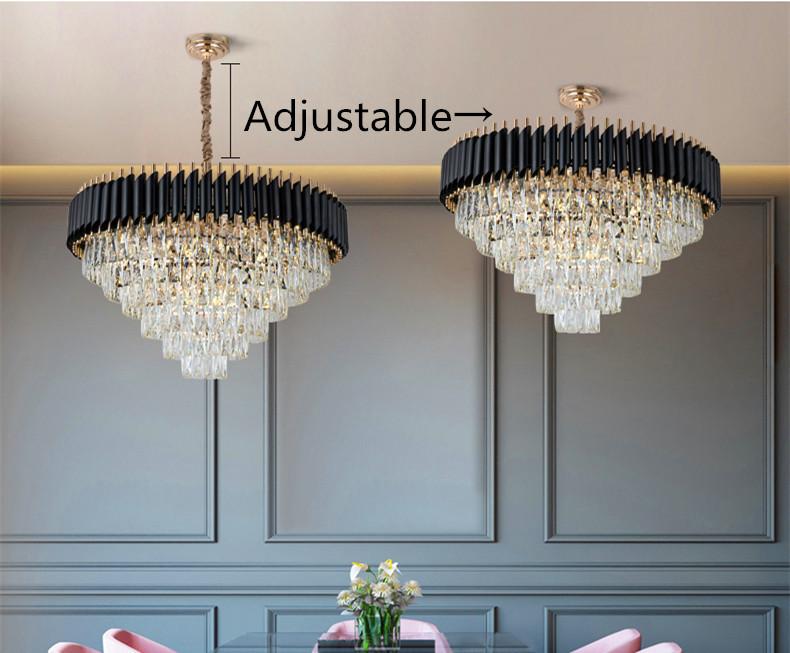 Роскошный подвесной светильник 2020, светодиодные подвесные светильники, Современная хрустальная люстра k9 в скандинавском стиле для дома