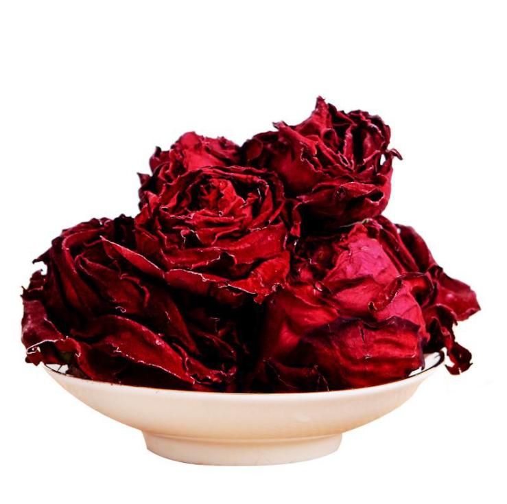 2020 Yunnan Ink Red Rose Dried Rose Pingyin Rose Tea Corolla Rose Natural Freeze-dried Rose Blooming Tea - 4uTea | 4uTea.com