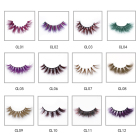 Pink Mink Eyelashes Mink Eyelash Wholesale Blond Beautier Custom Logo Color Pink Purple Brown Ishes 3d Colorful Mink Eyelashes