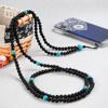 Black beads phone straps