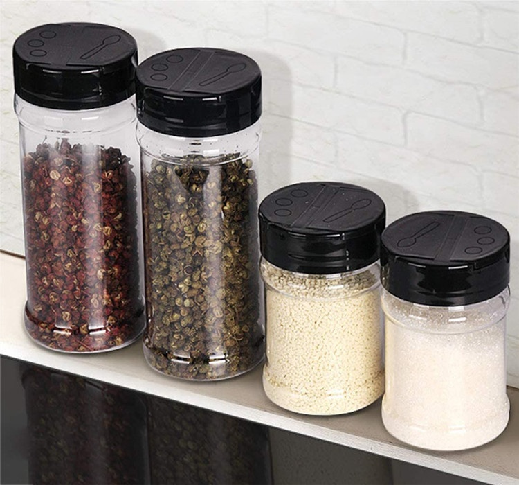 empty pet 32oz spices plastic bottles spice jar pepper bottle salt shaker and lids