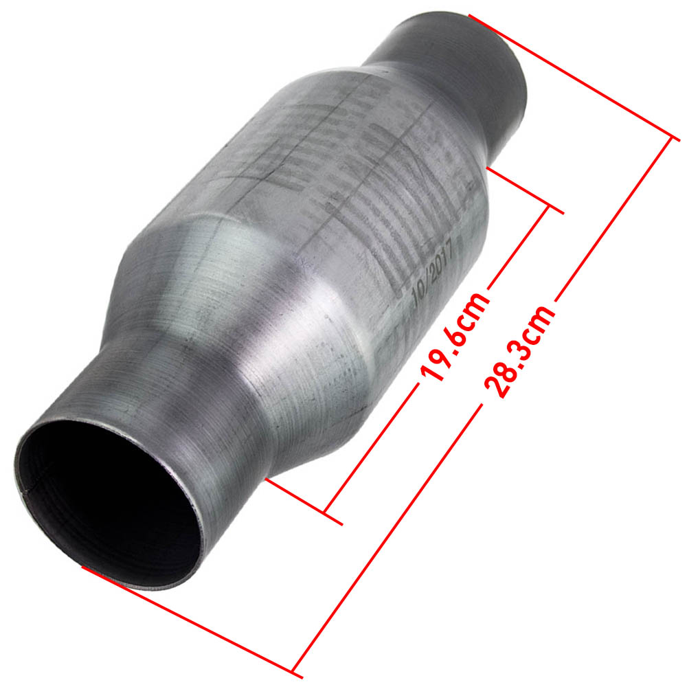maXpeedingrods 410250 Universal Catalytic Converter Inlet / Outlet 2.5 inch High Flow Performance Spun Body Stainless 4