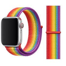 Дышащая повязка для часов apple Watch Series 4 3 2, ремешки 44 мм 42 мм, нейлоновая мягкая сменная Спортивная петля для iwatch 4 3 2 1 40 мм 38 мм(Китай)