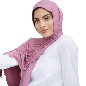 New colors in stock muslim women head shawl scarf premium stretch viscose cotton jersey hijab