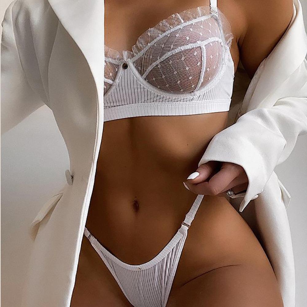 2021 Hot Sale Erotic Underwire Bra Female Two Piece Sexy Women Lingerie Sets