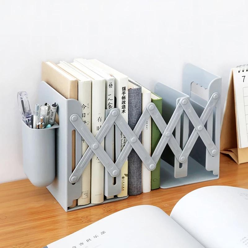 Стол с выдвижными книжными полками, стойка для книжных подставок, книжная полка с держателем для ручек, регулируемая подставка для книг, пробка для папки