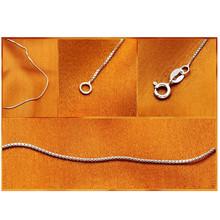 Классическая Базовая цепочка с тонким карабином, цепочка для ожерелья, модные украшения для женщин 40/45 см, цепочка для закусок «сделай сам» ...()
