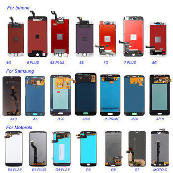 wholesale mobile phone lcd screen for Samsung galaxy 3 s3 5 6 6s 6 plus 7 8 display touch mobile lcd screen