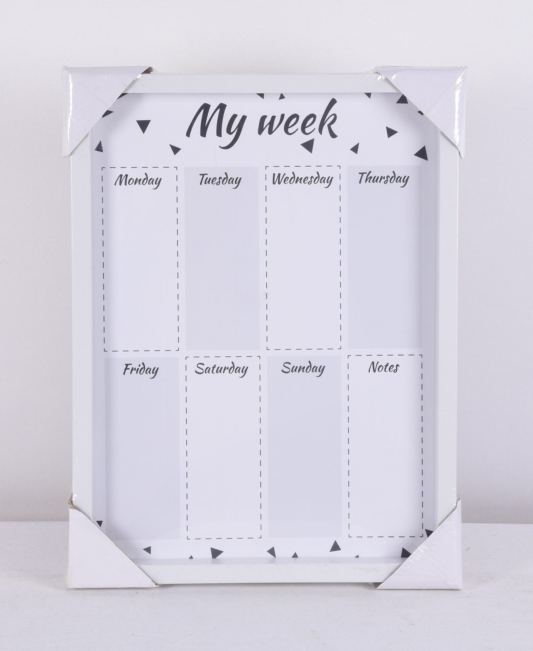 Dry Erase Magnetic Whiteboard Weekly Planner Customise Calendar Planner