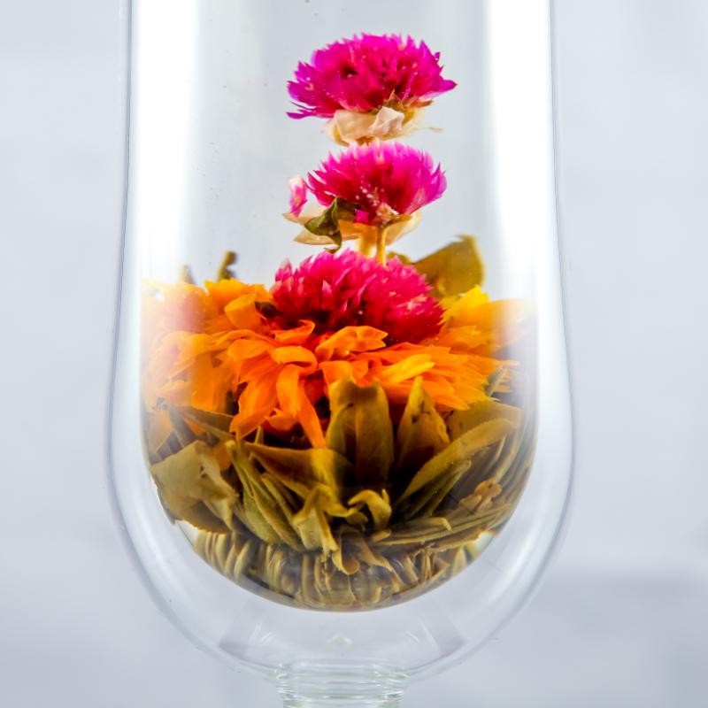 N1 Organic handmade chinese herbal jasmine blooming flower tea ball - 4uTea   4uTea.com