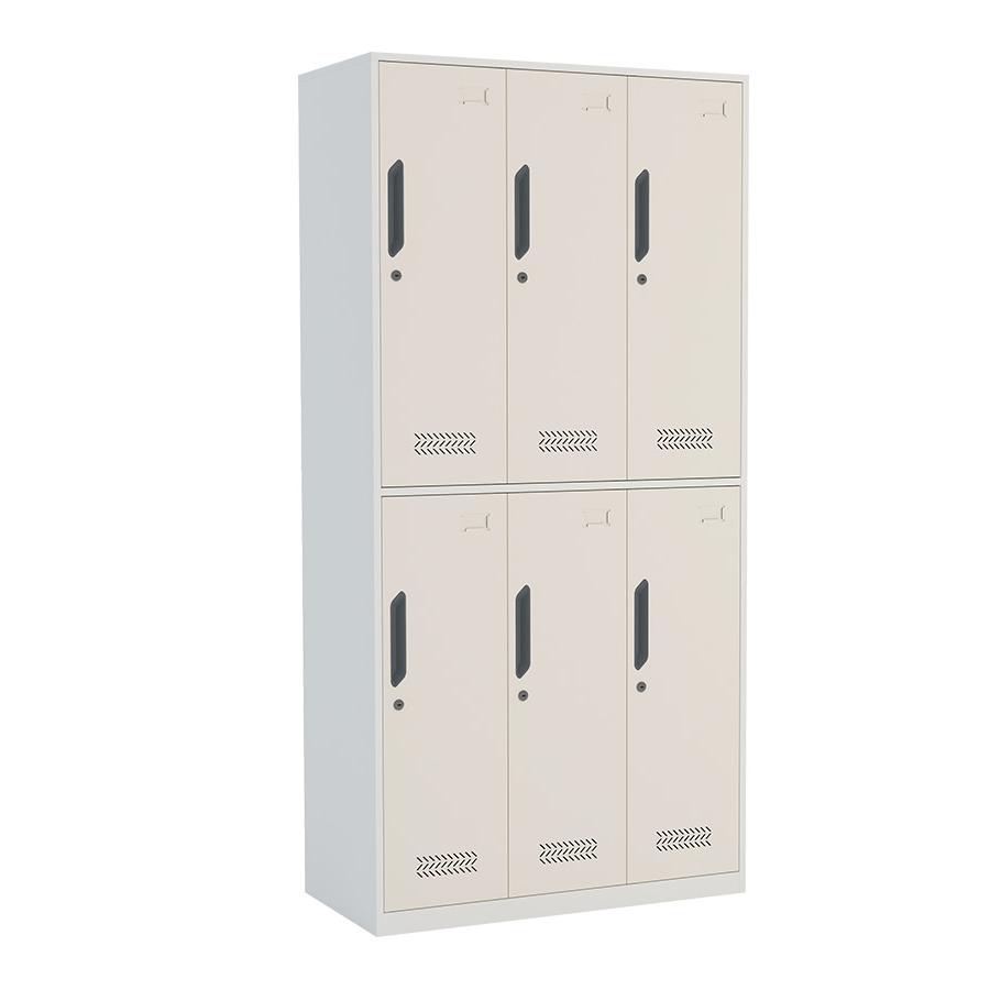 Customized six doors steel locker cabinet changing room metal gym locker