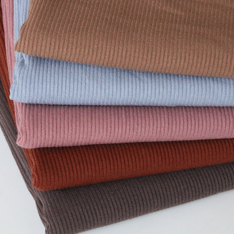 2388# The traditional manufacturer 75% poly, 20% rayon and 5% spandex elastic knitted rib fabric for winter
