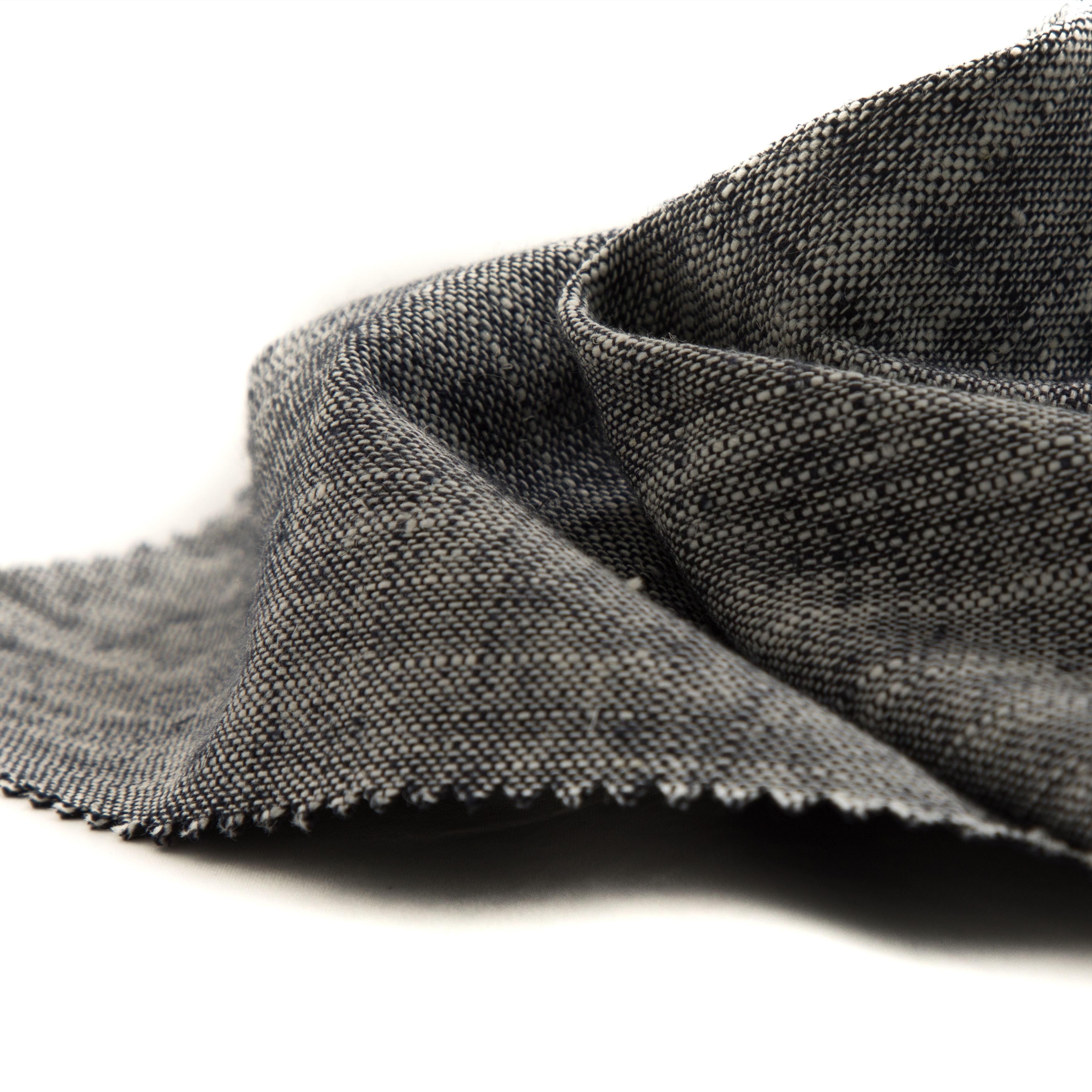 55 хлопковая 45 льняная пряжа, окрашенная композитная двухсторонняя трикотажная ткань с переводной прозрачной мембраной