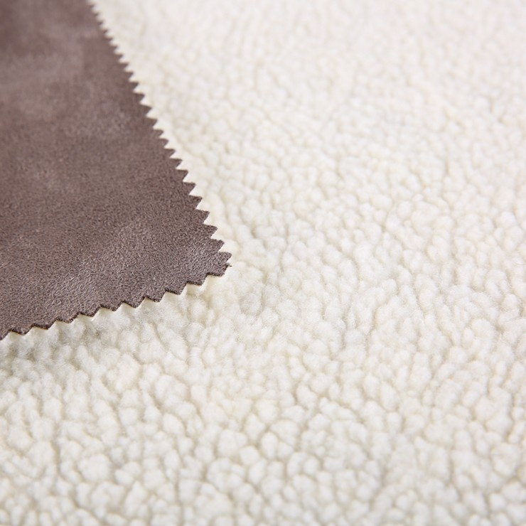 New Design 100% Polyester Anti Pilling Peach Finished Bonded Examples Fleece Super Suede Microfiber Fabric For Jacket