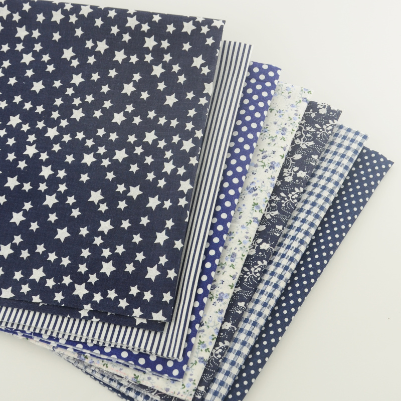 50*50CM Fat quarters printed+Fabric 100%cotton sewing materials for tissue patchwork wholesale
