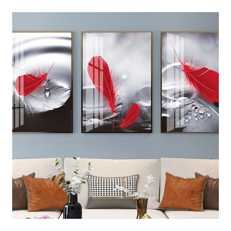 modern Frame Picture flower watercolor decorative painting photo paper and photo frame wall art