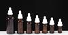 Bruine fles + Ronde Pipet + Wit Fraudebestendige Cap + Witte Druppelaar