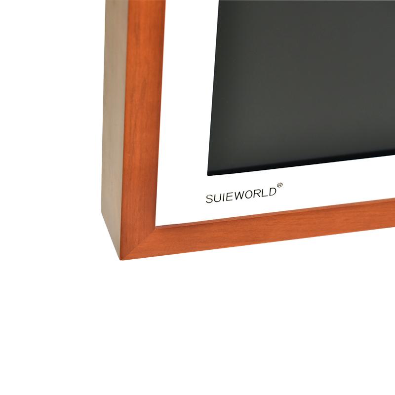 Деревянная электронная цифровая смарт-фоторамка с Wi-Fi, 32 дюйма
