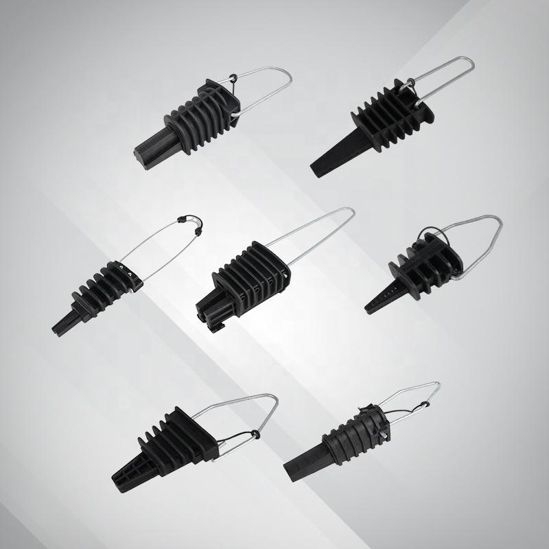 Высококачественный низковольтный анкерный зажим для кабеля ABC, Оптическая изоляция, мертвый конец зажима