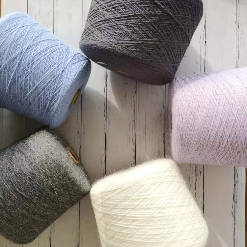 Lotus Yarns 2/14nm Wholesale best selling Angora Rabbit /Nylon Blended Handknitting Fancy Yarn
