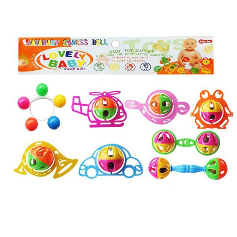Musical Baby Shaker Hand Bell Rattles Educational Funny Cartoon Newborn Toy