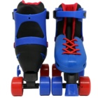 Adjustable plastic quad roller skate with inline skate and ice skate