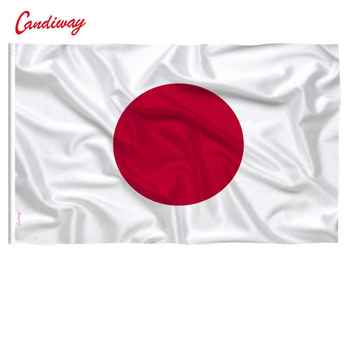 Durable 100%polyester Japanese National flag 3x5ft high quality flag with 2 gold grommets