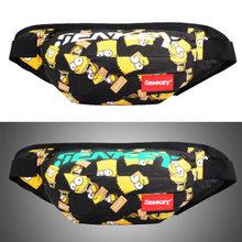 Новая поясная сумка Женская граффити нагрудная сумка для унисекс Оксфордские хип-сумки светящаяся поясная сумка большая емкость сумка для ...(Китай)