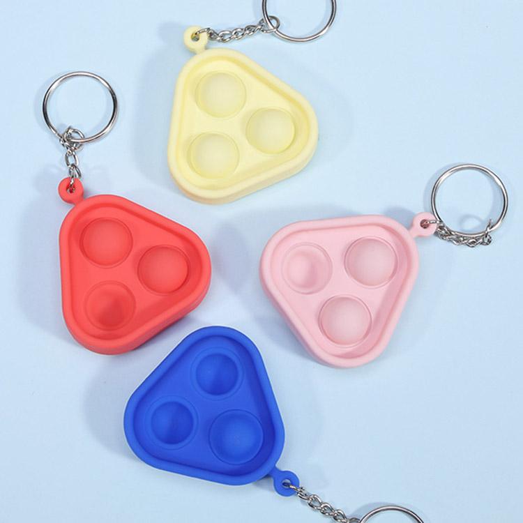 A Mini Fun Anti Stress Relief Keychain Rainbow Simple Dimple Fidget Sensory Toys Bulk Pack Pops It Fidget Toy