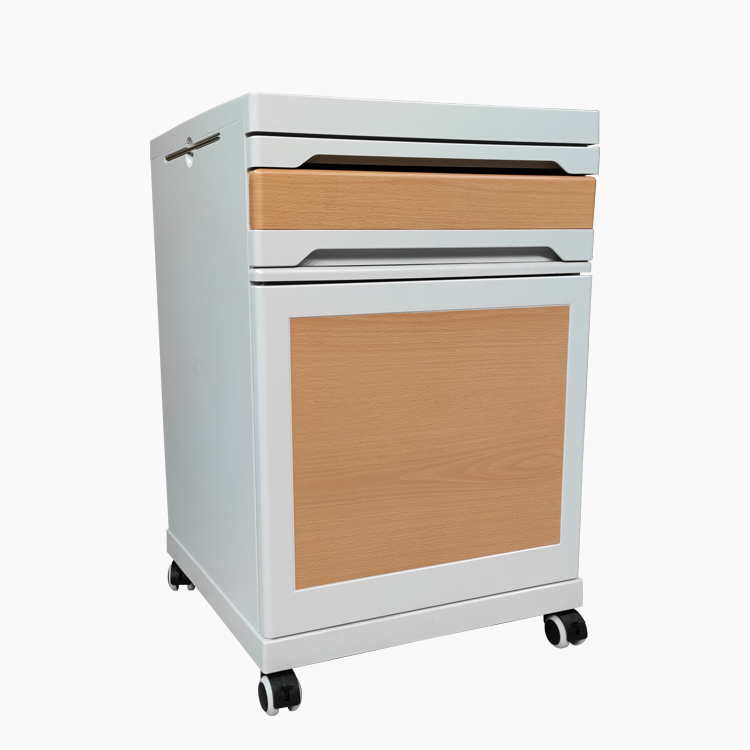 High quality steel abs plastic hospital small and large size bedside cabinet lockers with castors