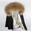 Rabbit fur liner - Black+Natural