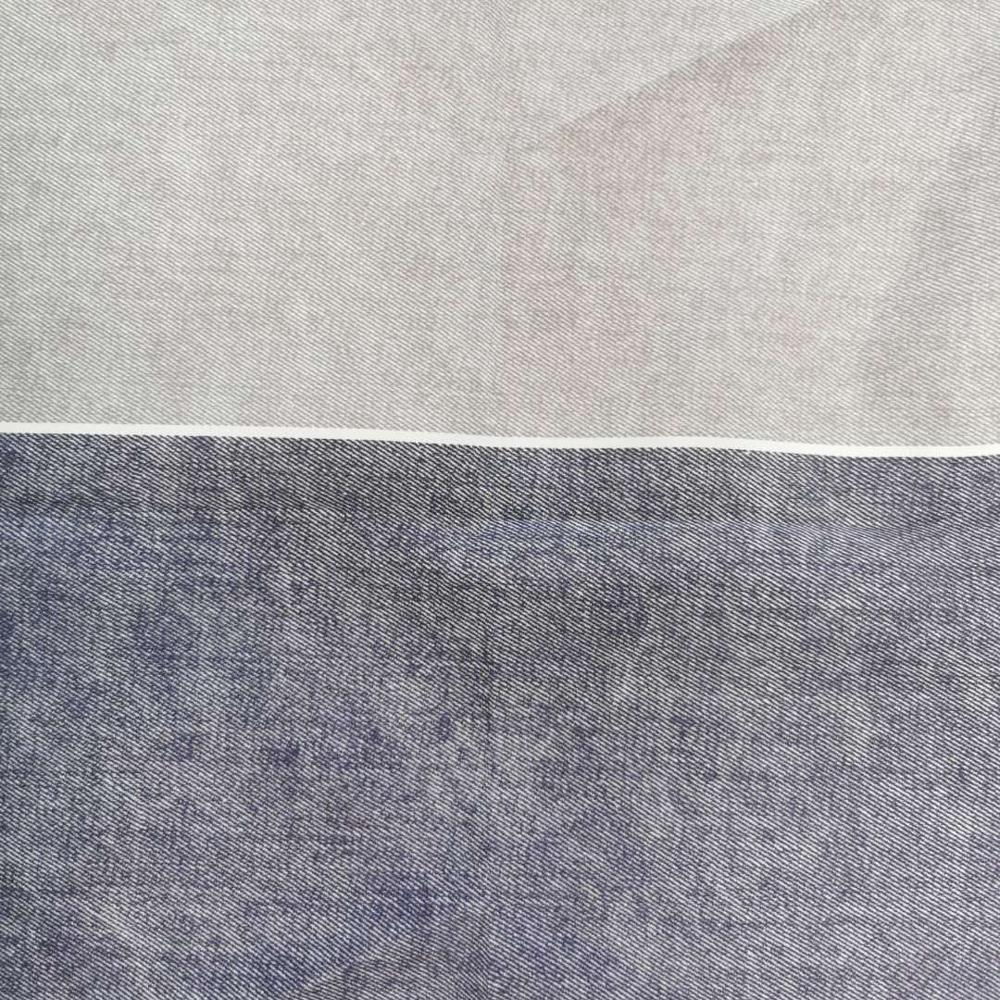 Korea market gray color line design digital printed 100 polyester pongee fabric for quilt