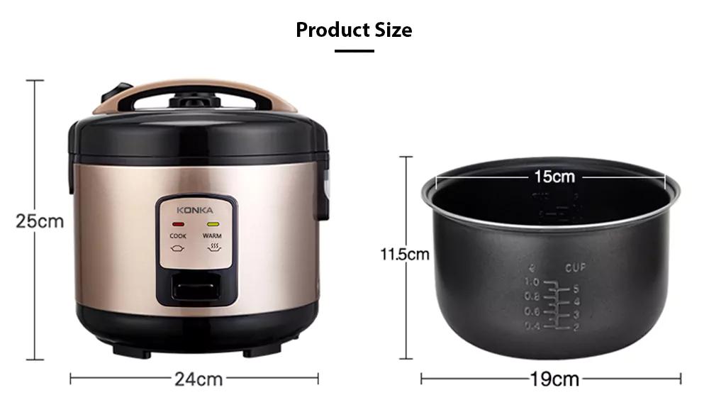 Мини-рисоварка Konka, компактная рисоварка объемом 3 л на 1-5 человек, микро-скоростная Приготовление Риса, кастрюля для приготовления каши