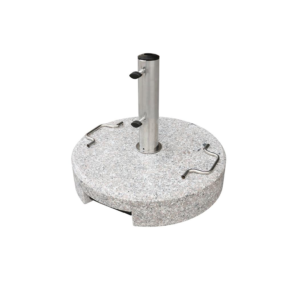 Best  seller grey round base patio outdoor granite umbrella stand granite umbrella base