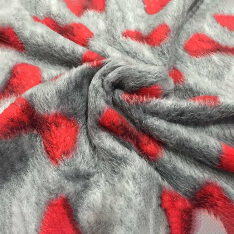 100% полиэфирная противотаблеточная трикотажная полиэфирная клетчатая флисовая ткань с принтом