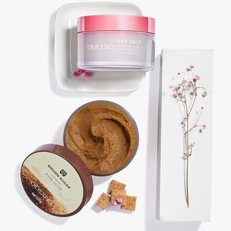 Wholesale Private Label skin care Deep coffee butter Moisturizing Smoothing exfoliating pink sugar scrub salt scrubs body scrub