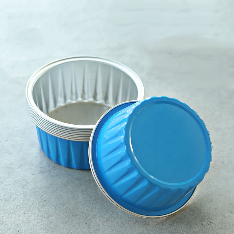 disposable Oven pudding cup baked thick aluminum foil cake cup