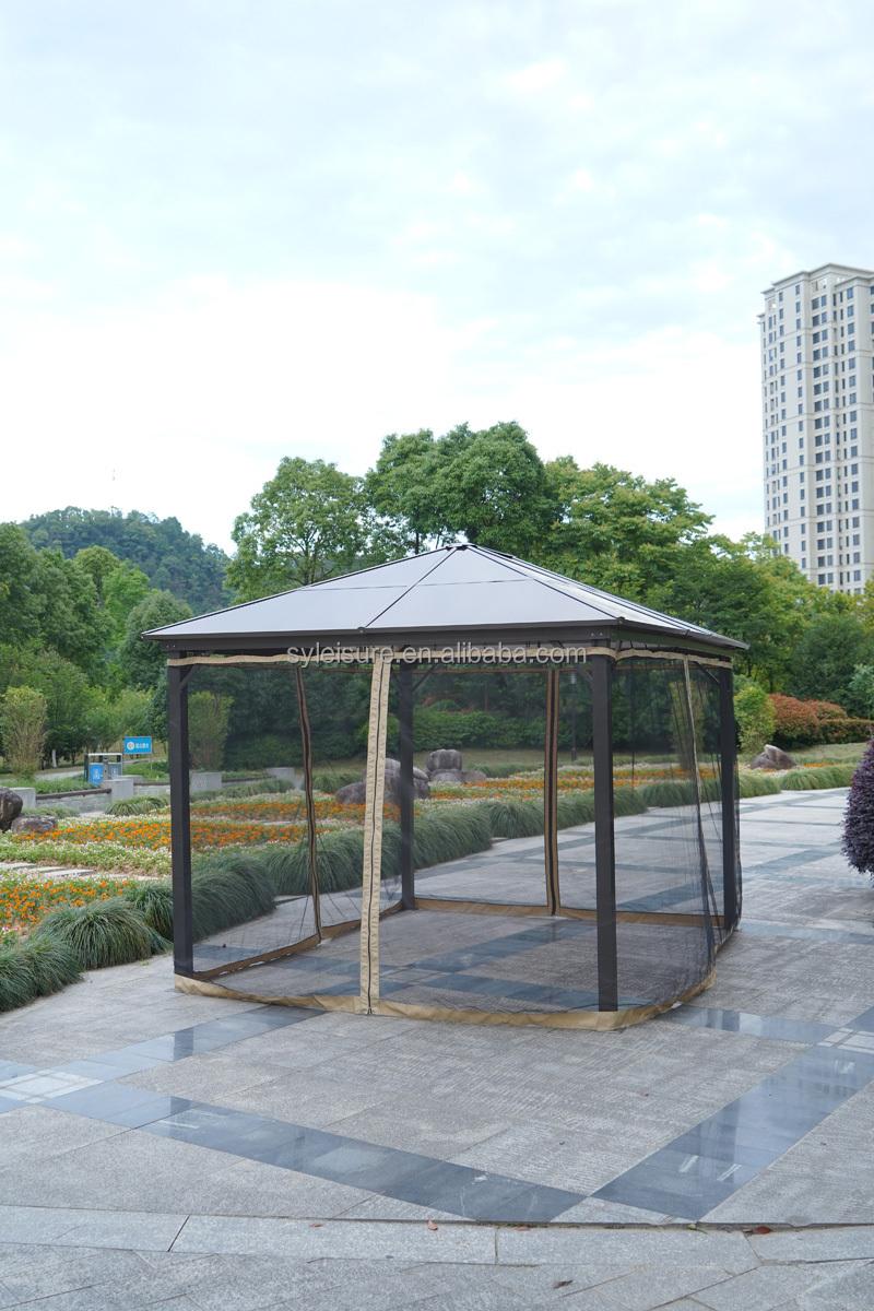 Outdoor luxury pavilion garden pavilion aluminum party tent garden tent with translucent PC roof 3*3M