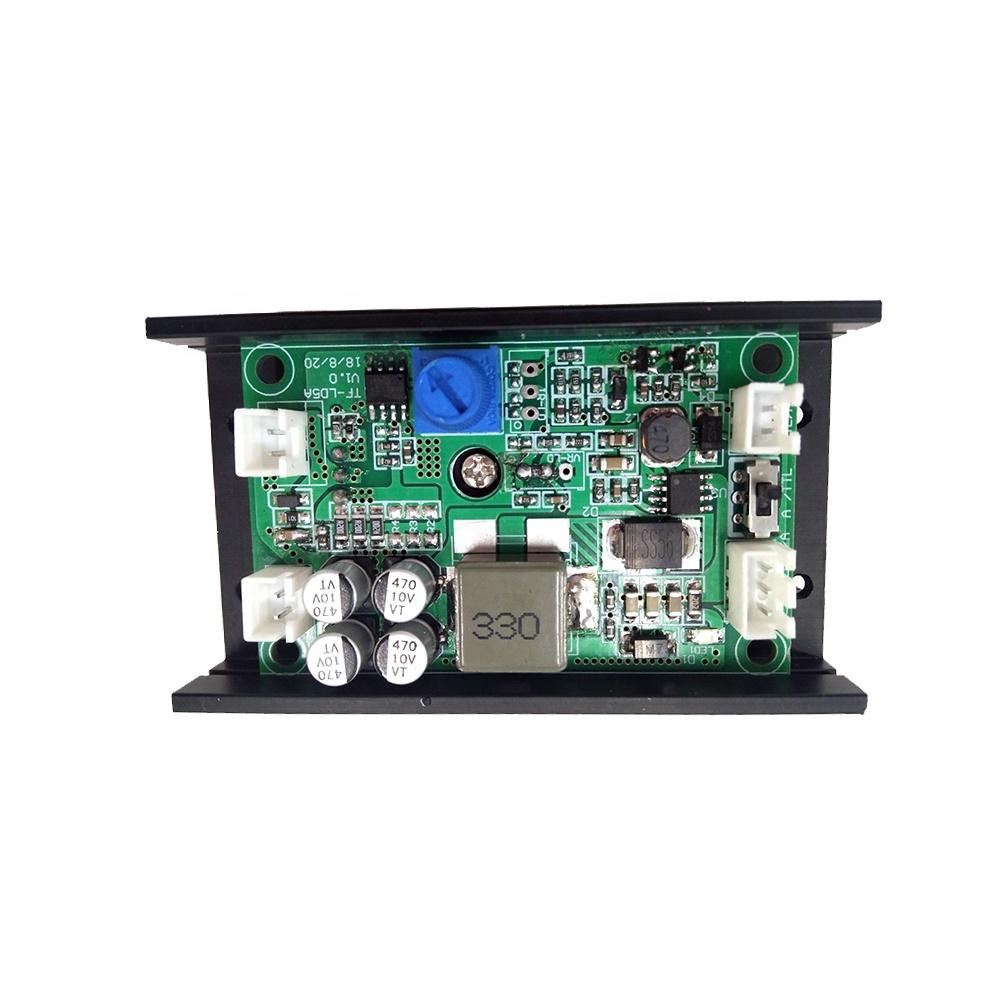 DIY гравировальный станок с регулируемым фокусом TTL/PWM 15000 мВт синий лазерный модуль