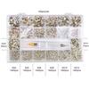 1200pcs+9720 round rhinestones / box
