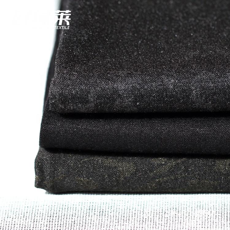 Высококачественное трикотажное жаккардовое шерстяное пальто из полиэстера и эластичной ткани