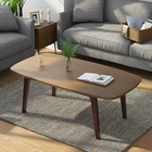 Table Wooden Furniture Office Metal Frame Center Coffee Table