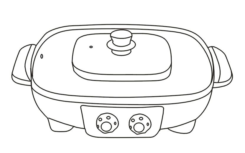Заводская квадратная черная антипригарная многофункциональная электрическая противень для кипячения