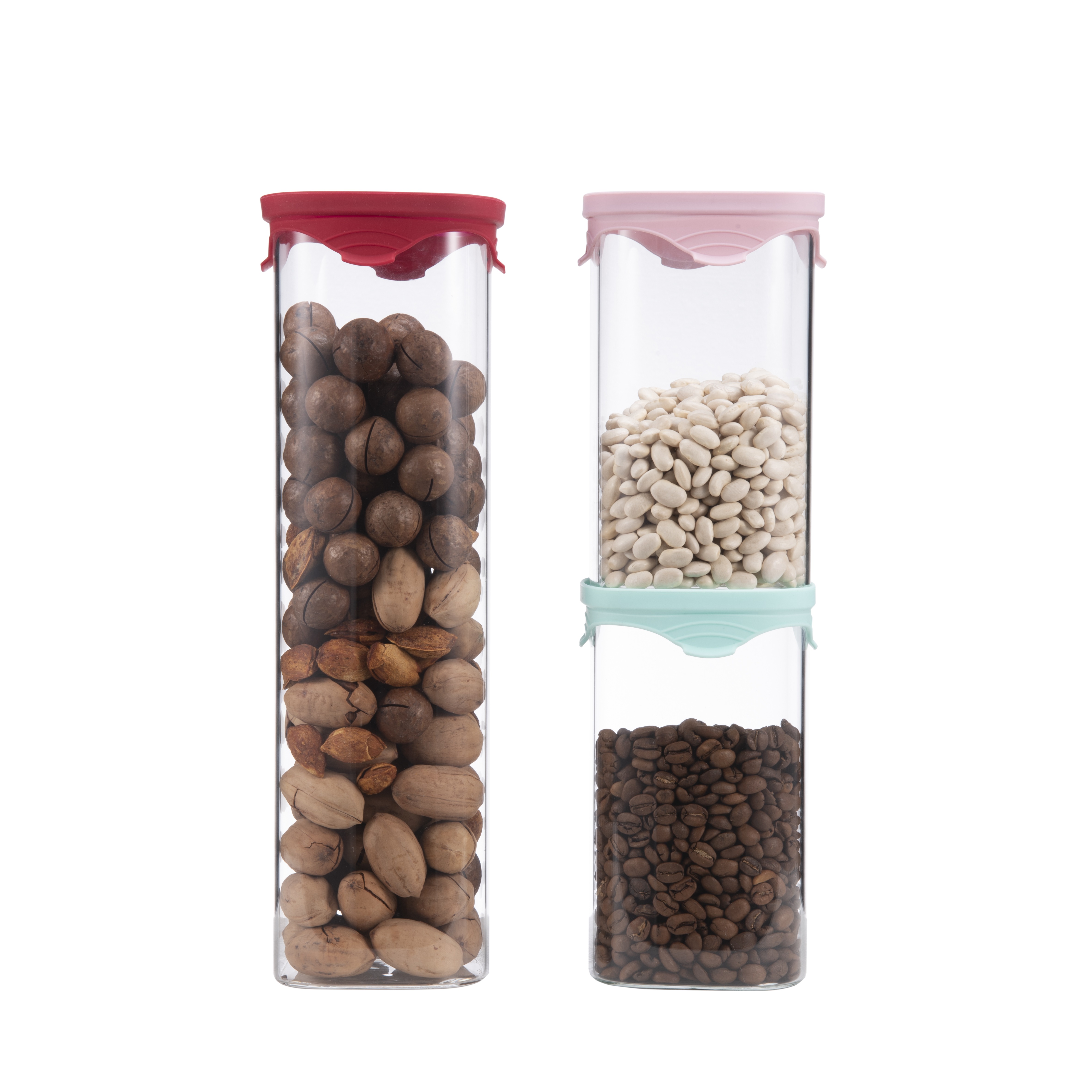 airtight high borosilicate glass jars for storage food